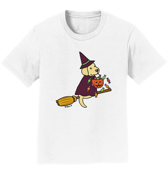 Yellow Lab Witch - Kids' Unisex T-Shirt