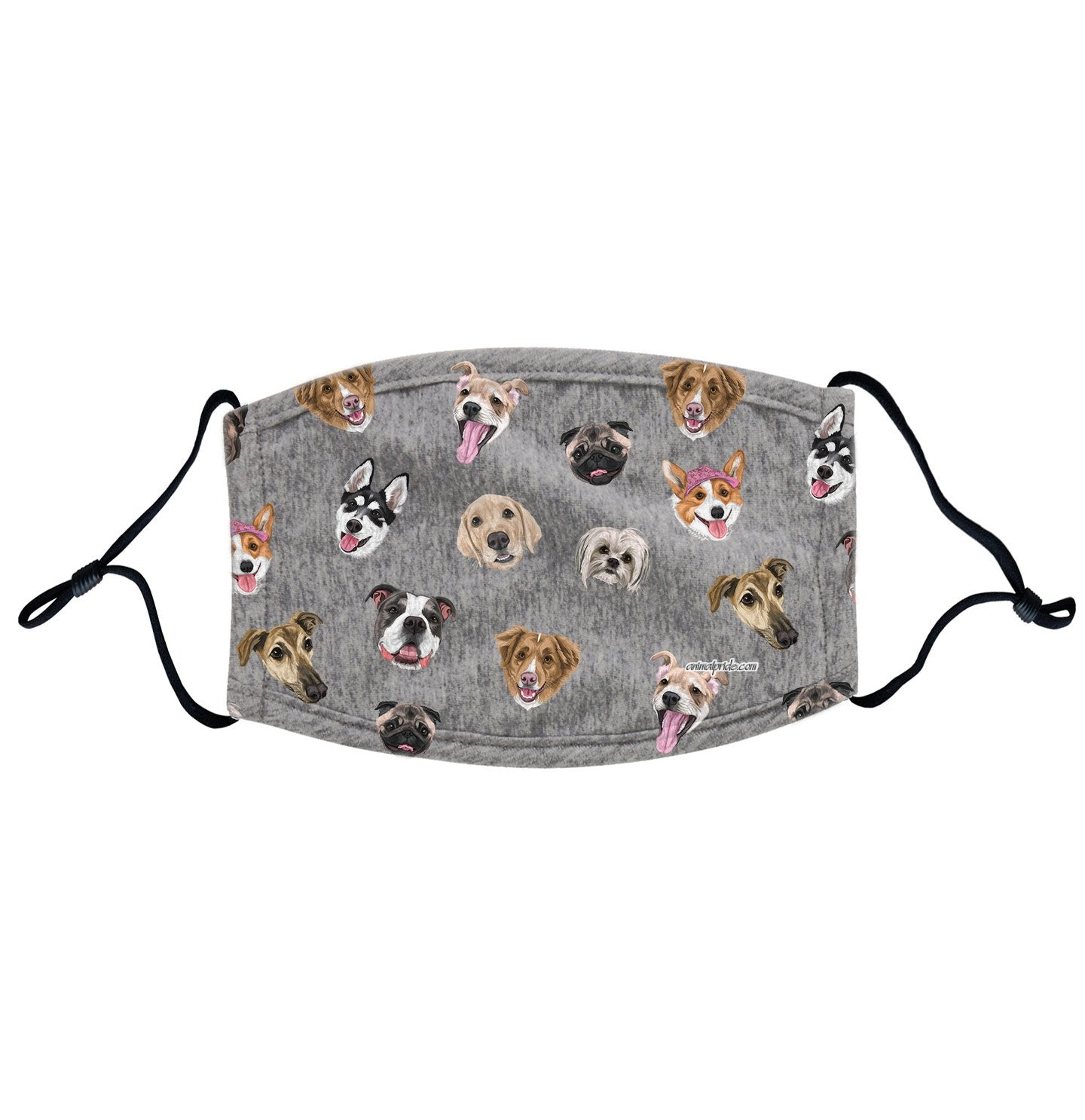 Dog Head Scatter - Adjustable Face Mask, Breathable, Reusable, Printed in USA