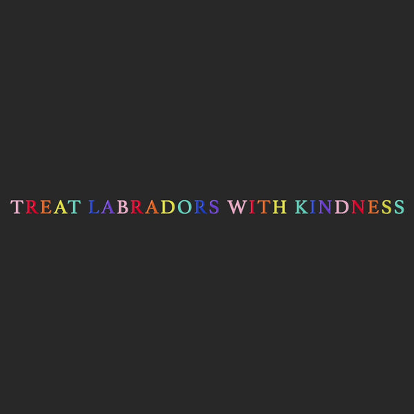Treat Labradors With Kindness - Adult Unisex T-Shirt