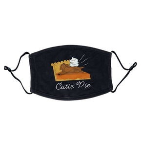 Chocolate Lab Pumpkin Pie - Adult Adjustable Face Mask
