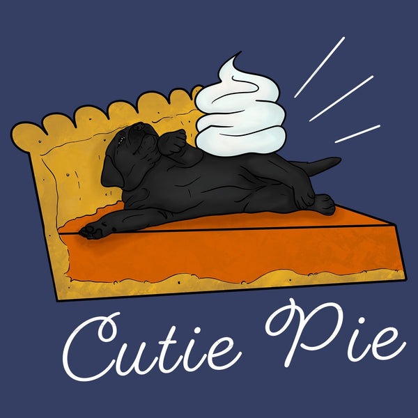Cutie Pie Black Lab - Adult Unisex T-Shirt