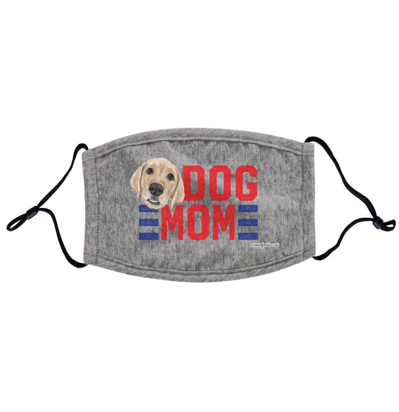 Red Dog Mom - Yellow Lab - Adjustable Face Mask, Breathable, Reusable, Printed in USA