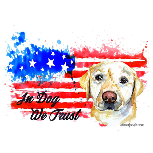 Yellow Lab In Dog We Trust - Adult Unisex Face Mask