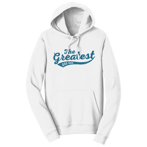Sport Script - Greatest Dog Dad - Adult Unisex Hoodie Sweatshirt - Labradors.com
