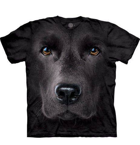 The Mountain  Black Lab - Adult Unisex T-Shirt
