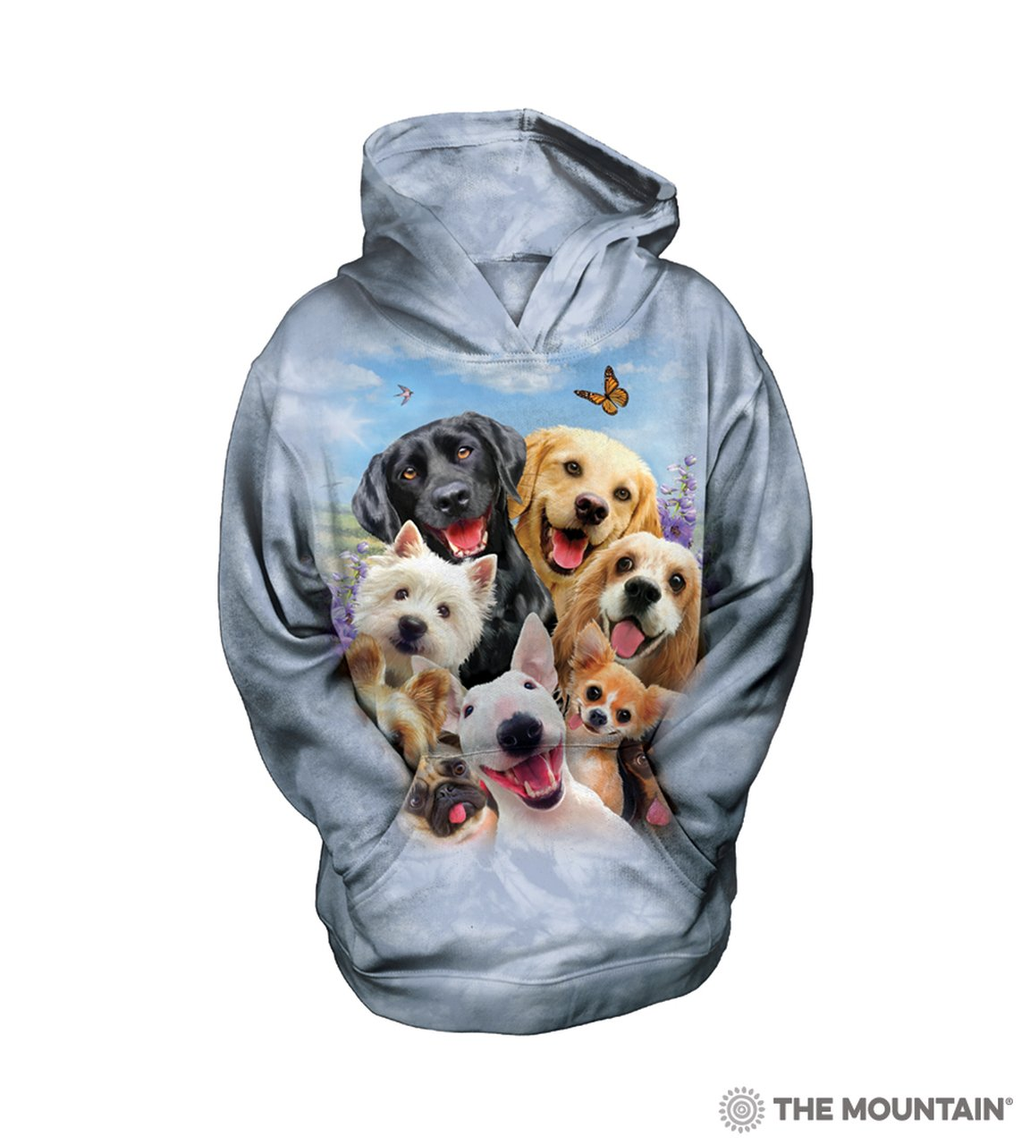 Dogs Selfie - The Mountain - Youth Hoodie