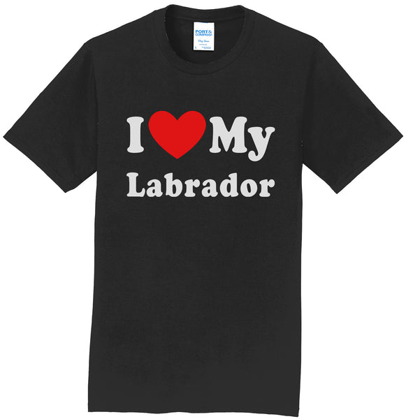 I Heart My Labrador - Adult Unisex T-Shirt