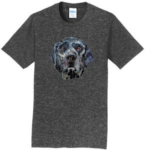 Black Lab Face Watercolor - Adult Unisex T-Shirt