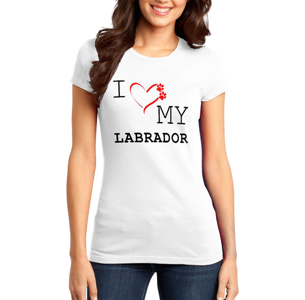 I Love My Labrador - Women's Fitted T-Shirt