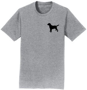 Labrador Silhouette Small - Adult Unisex T-Shirt