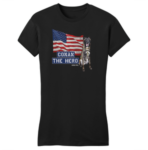 Conan The Dog Hero Women's Shirt Belgian Malinois Special Ops