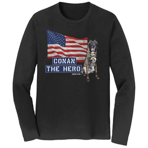 Conan The Dog Hero Long Sleeve Shirt Belgian Malinois