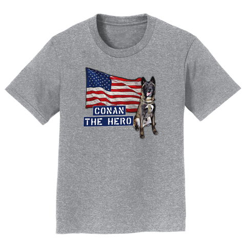 Conan The Dog Hero Kid's Child Shirt Belgian Malinois Special Ops
