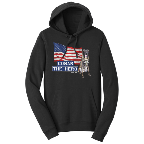 Conan The Dog Hero Sweatshirt Hoodie Belgian Malinois