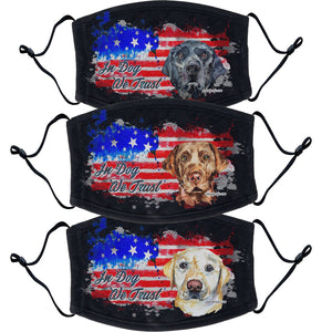 Labrador Retriever 3 Pack Face Masks In Dog We Trust