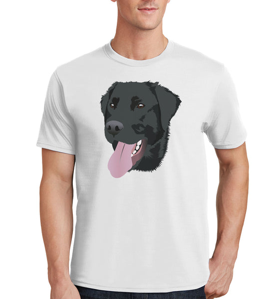 Black Lab Tongue Out - Adult Unisex T-Shirt
