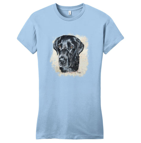 Black Labrador Head - Women's Fitted T-Shirt