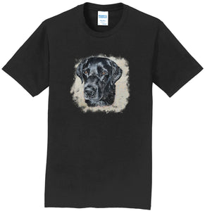 Black Labrador Head - Adult Unisex T-Shirt