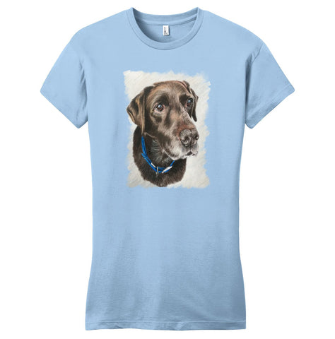 Charlie the Chocolate Lab - Women's Fitted T-Shirt