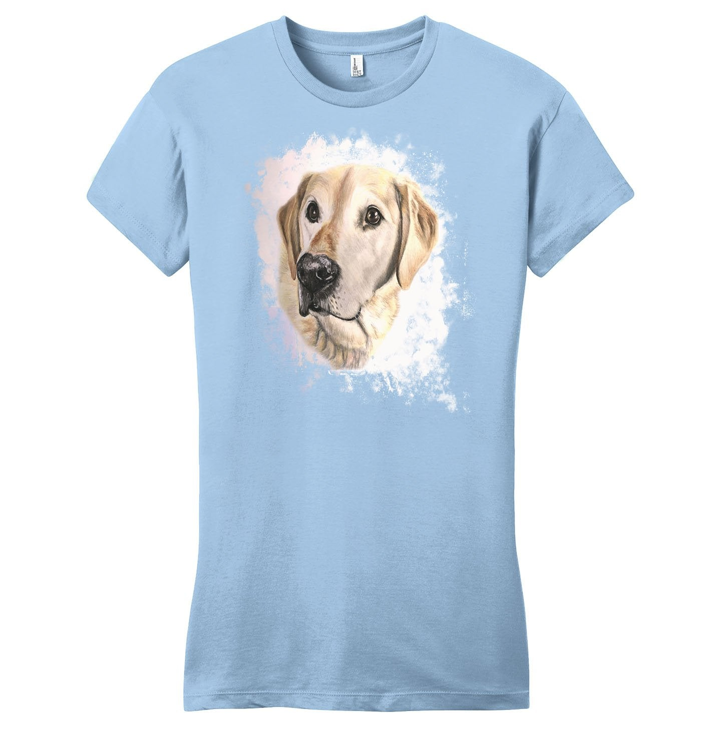 Golden Labrador Portrait - Women's Fitted T-Shirt