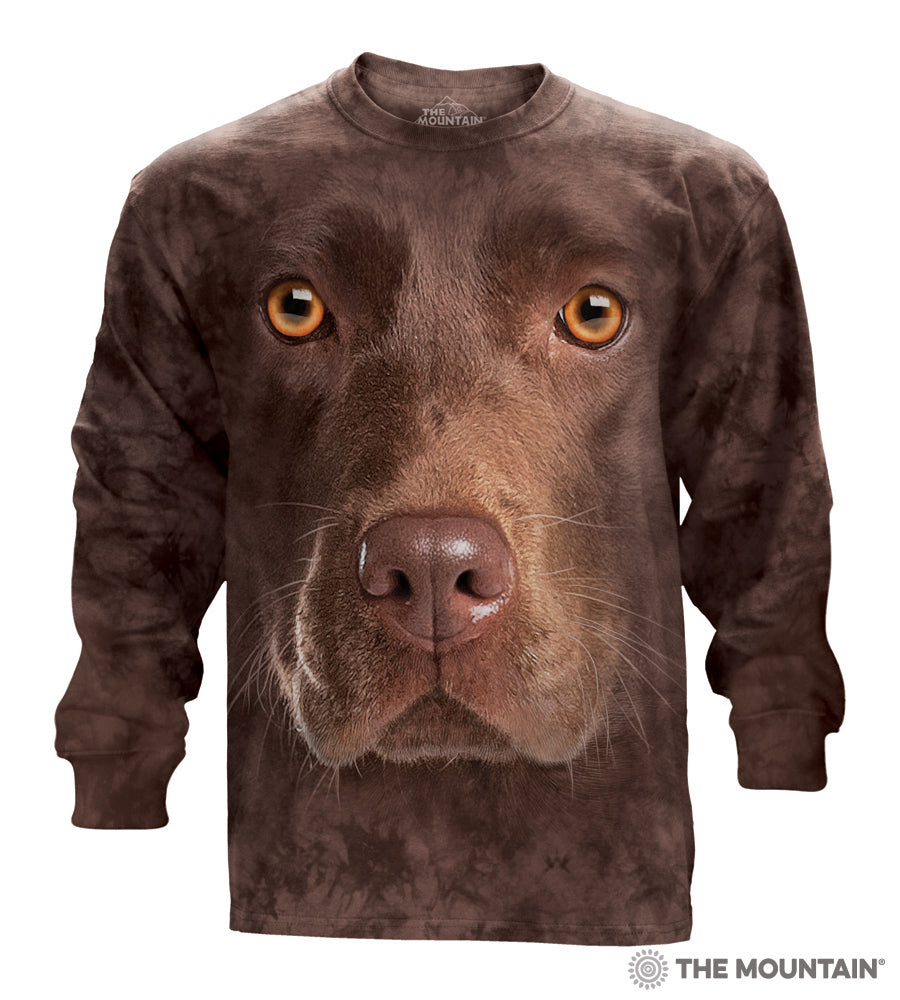 The Mountain Chocolate Lab - Adult Long Sleeve T-Shirt