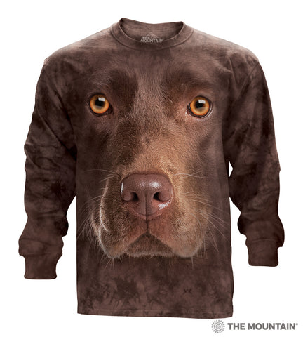 Chocolate Lab - Adult Unisex Long Sleeve T-Shirt