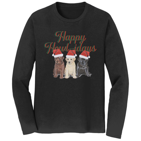 Happy Howlidays - Adult Unisex Long Sleeve T-Shirt