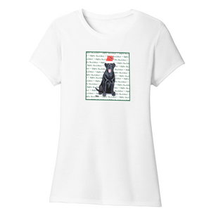 Happy Howlidays - Black Lab - Women's Tri-Blend T-Shirt