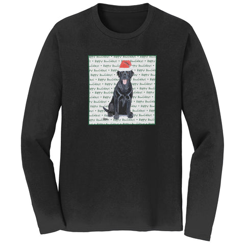Black Lab Howlidays - Adult Unisex Long Sleeve T-Shirt