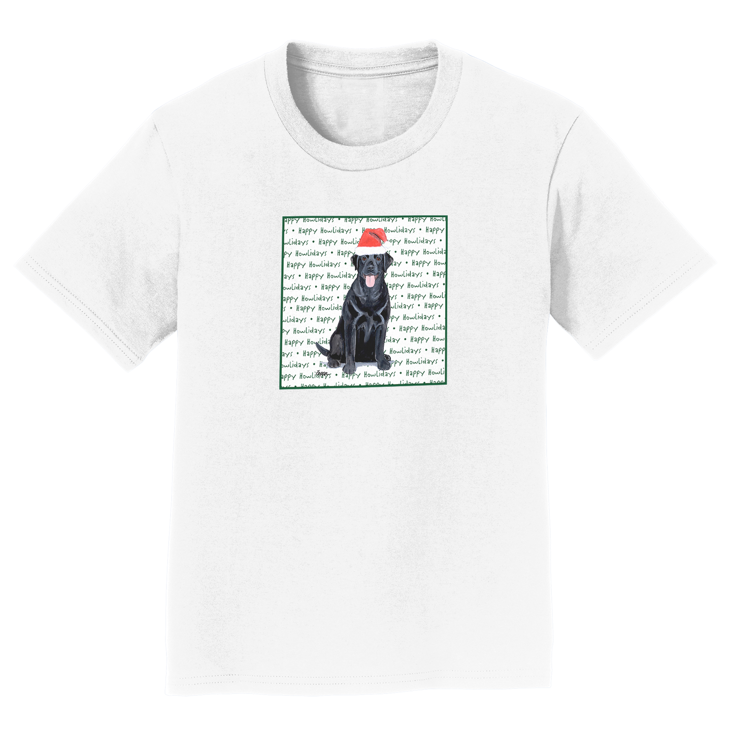 Happy Howlidays - Black Lab - Kids' Unisex T-Shirt