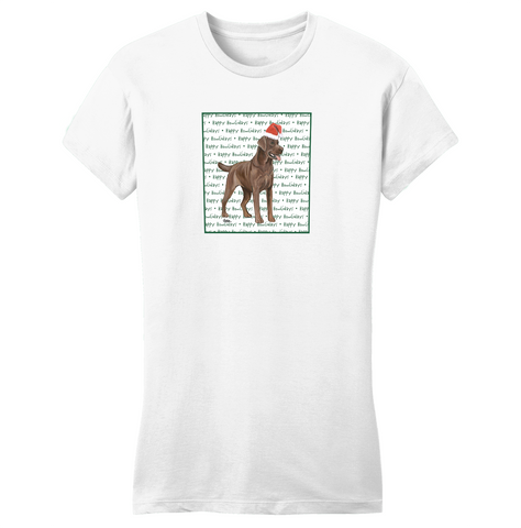 Chocolate Lab Howlidays - Women's Fitted T-Shirt