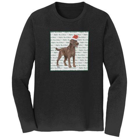 Chocolate Lab Howlidays - Adult Unisex Long Sleeve T-Shirt