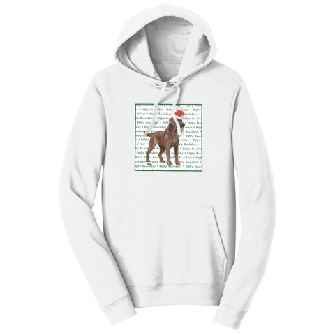 Chocolate Lab Howlidays - Adult Unisex Hoodie Sweatshirt