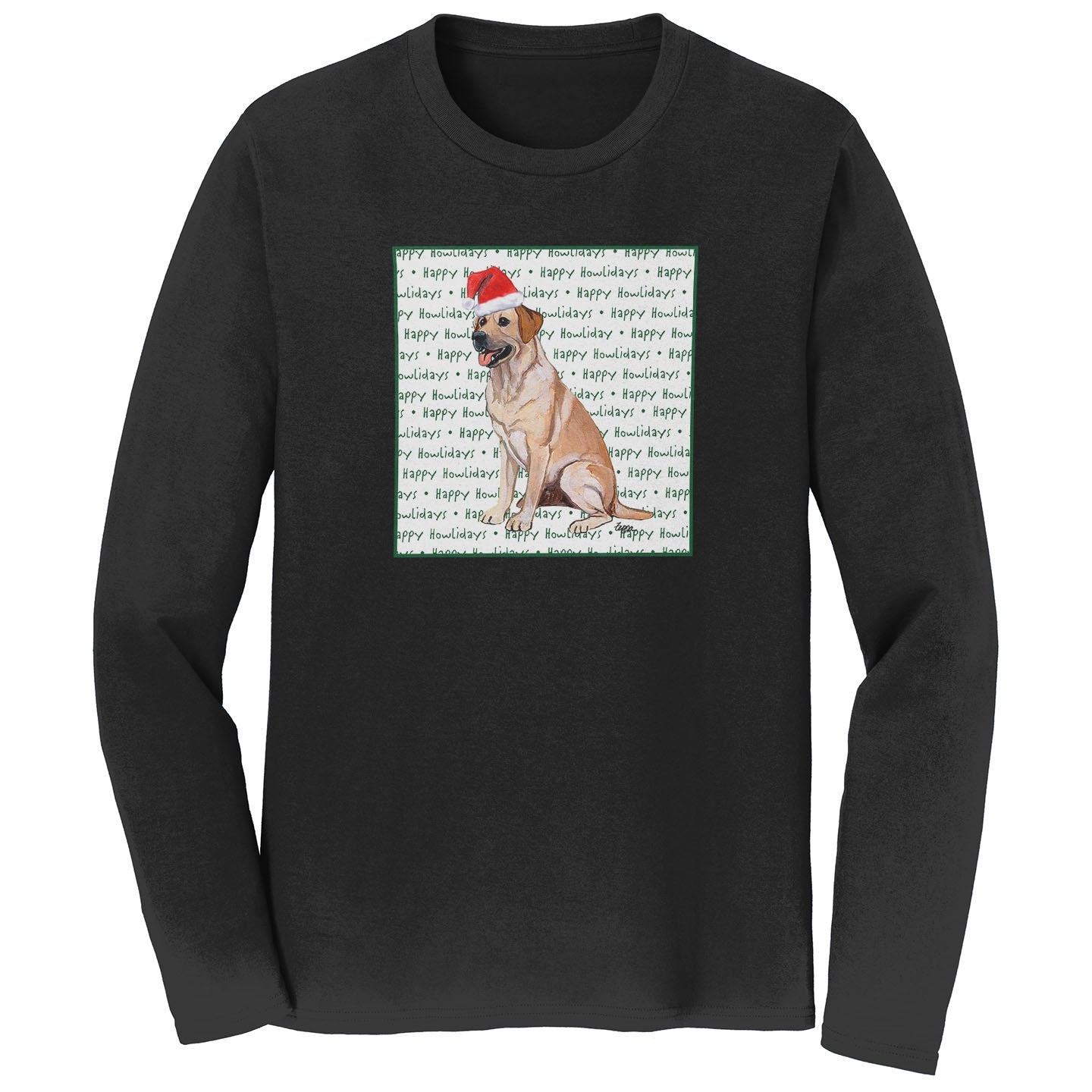 Yellow Lab Howlidays - Adult Unisex Long Sleeve T-Shirt