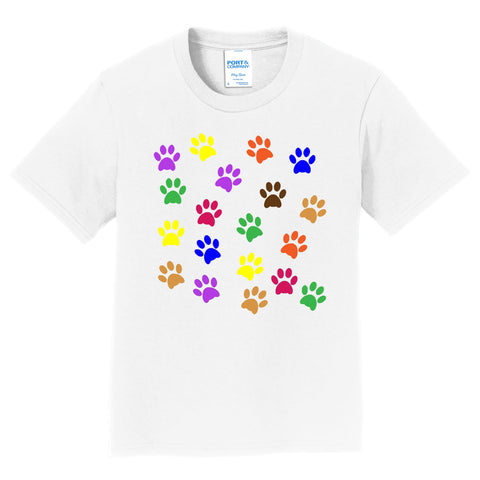 Colorful Paw Prints - Kids' Unisex T-Shirt