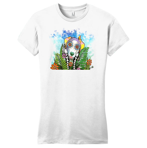Skeleton Lab Under Starry Night - Women's Fitted T-Shirt