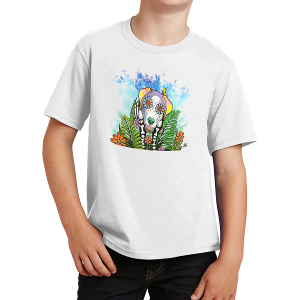 Skeleton Lab Under Starry Night - Kids' Unisex T-Shirt