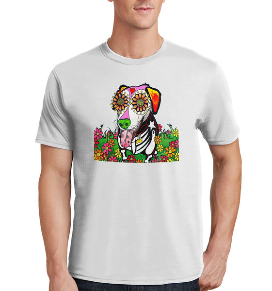 Labrador with Tongue Out - Skeleton Style - Adult Unisex T-Shirt