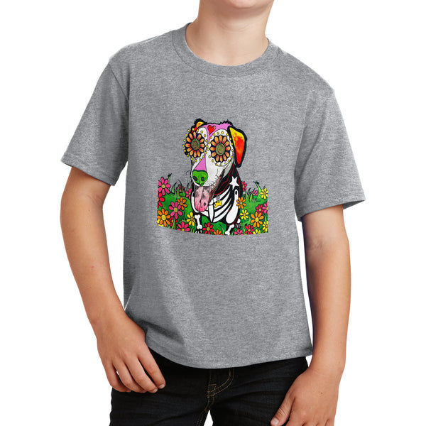 Labrador with Tongue Out - Skeleton Style - Kids' Unisex T-Shirt