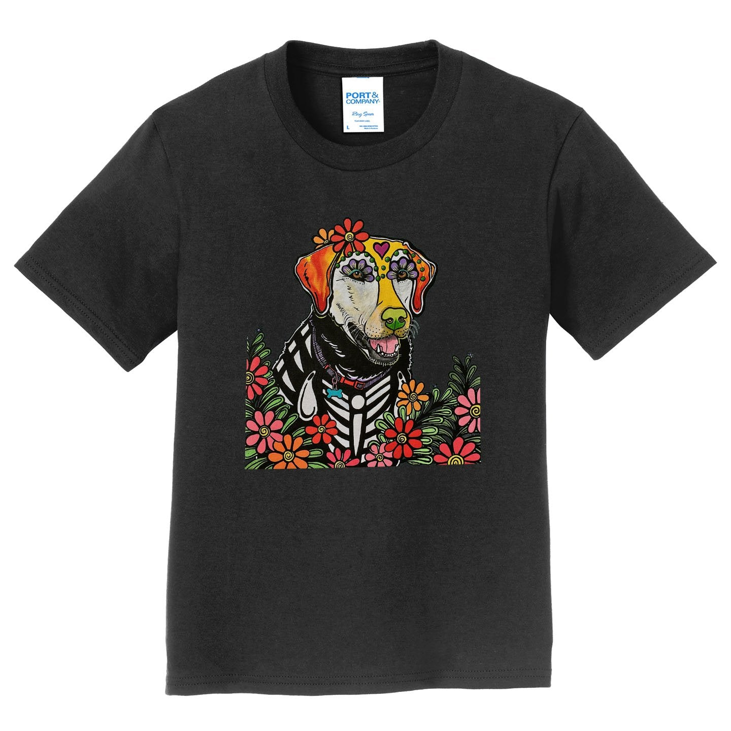 Happy Lab - Skeleton Style - Kids' Unisex T-Shirt