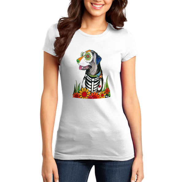 Labrador Big Eyes - Skeleton Style - Women's Fitted T-Shirt