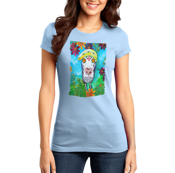 Hypnotized Labrador - Women's Fitted T-Shirt