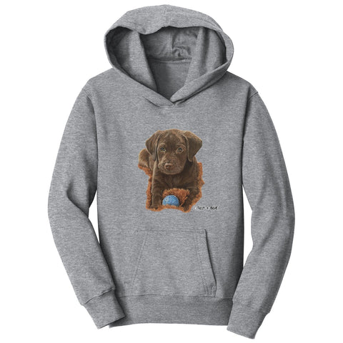 Chocolate Lab Puppy - Kids' Unisex Hoodie Sweatshirt