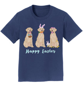 Labradors.com - Easter Yellow Labrador Line Up - Kids' Unisex T-Shirt