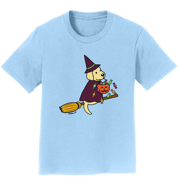 Yellow Lab Witch - Halloween - Kids' T-Shirt