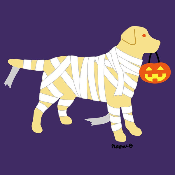 Yellow Lab Mummy Trick or Treater - Women's Fitted T-Shirt