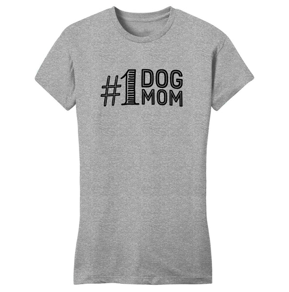 #1 Dog Mom - Women's Fitted T-Shirt