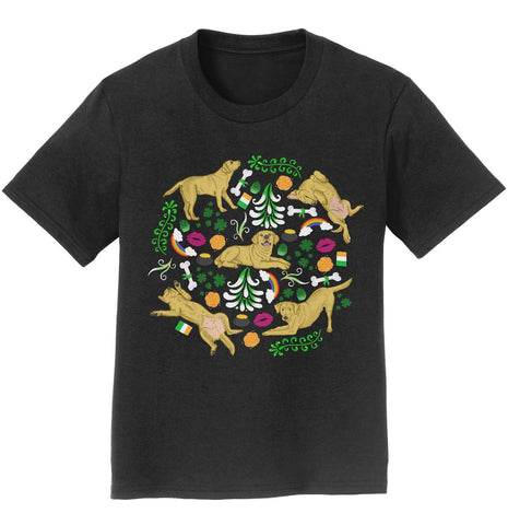 Yellow Labrador Green Fleur Design - Kids' Unisex T-Shirt