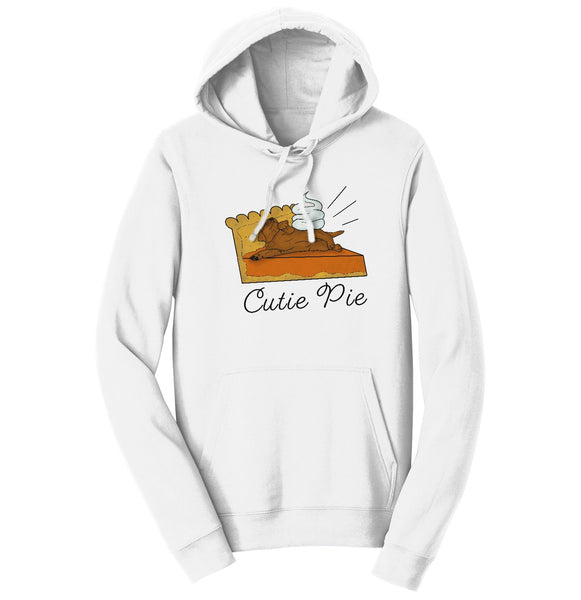Cutie Pie Chocolate Lab - Adult Unisex Hoodie Sweatshirt