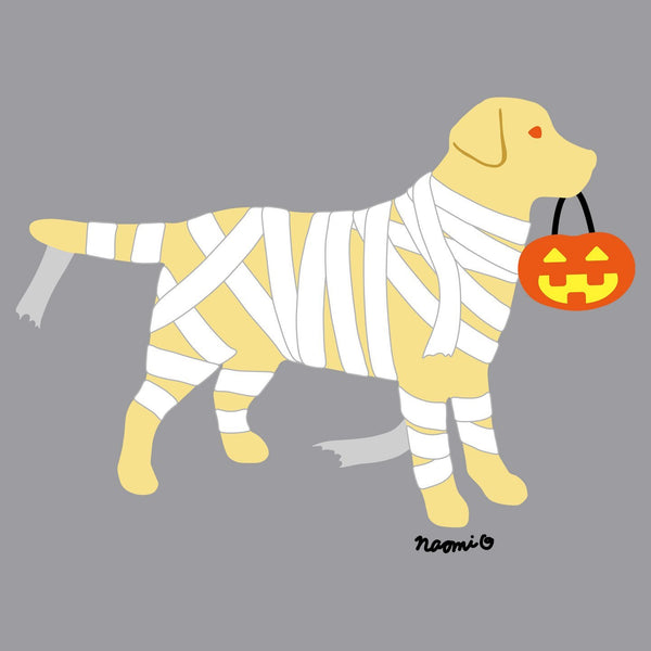 Yellow Lab Mummy Trick or Treater - Kids' Unisex Hoodie Sweatshirt
